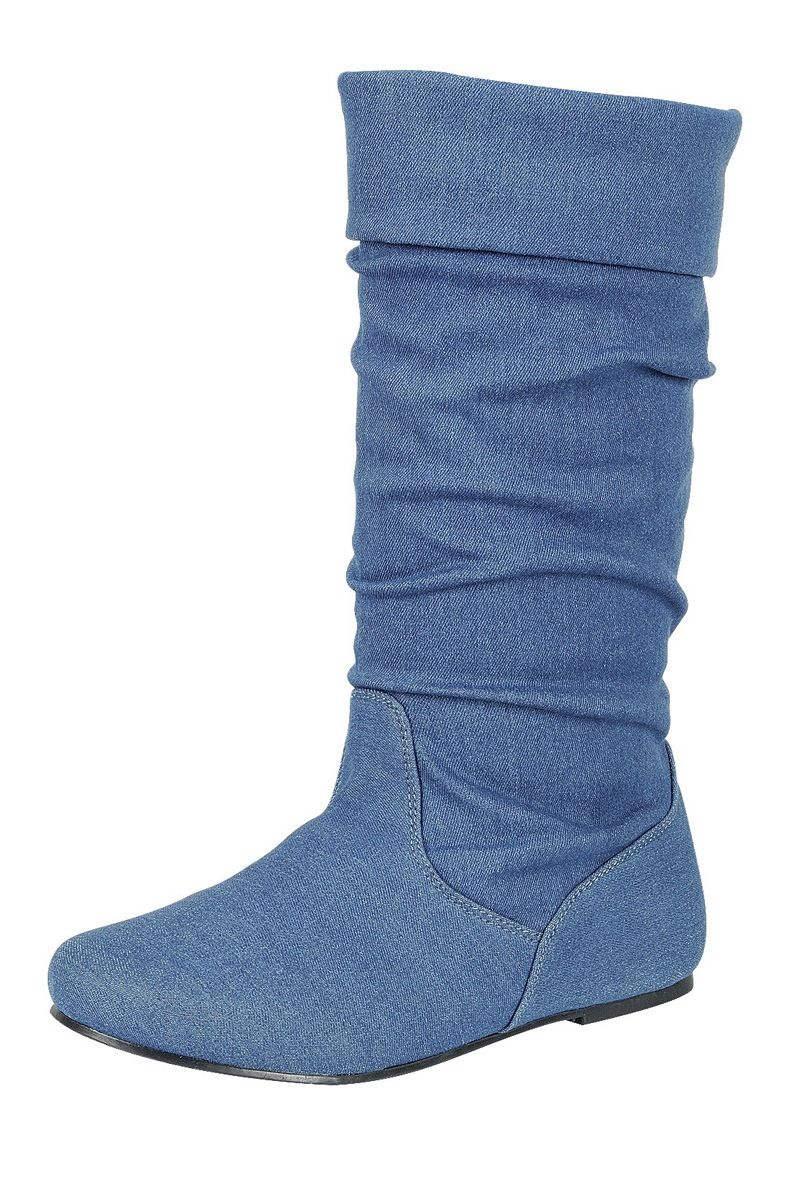 ''Ladies fashion ruched wedge BOOT is edgy, dress casual and chic, knee-high BOOT, closed almond toe,