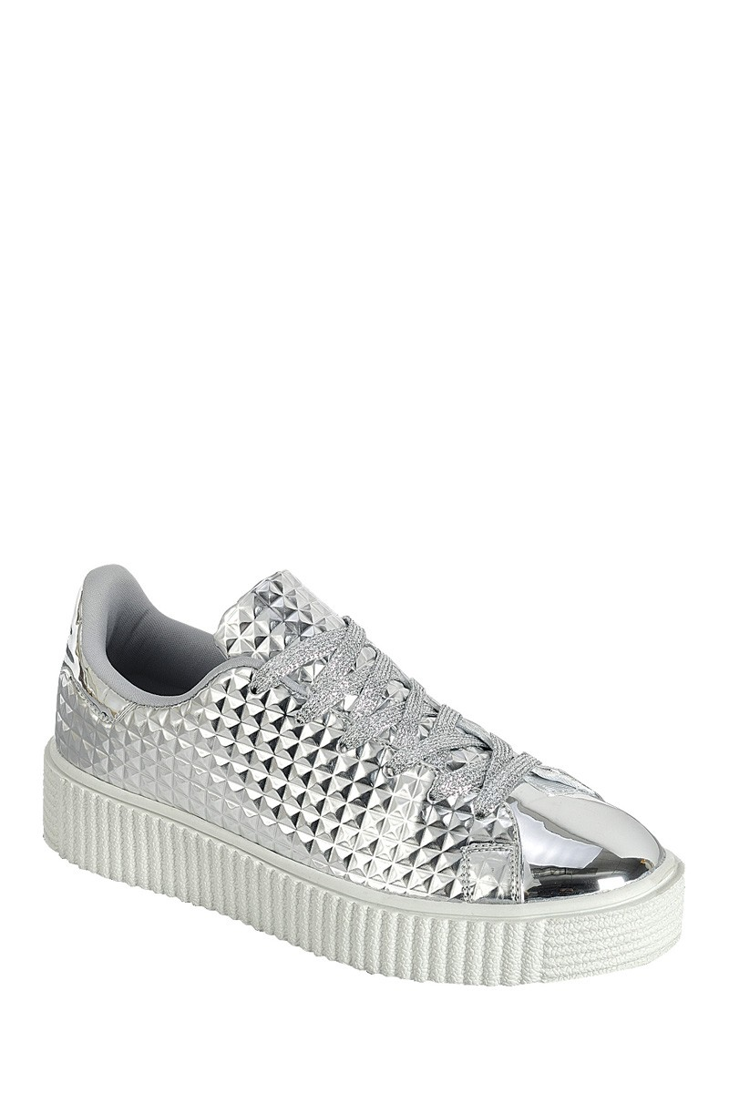 ''Ladies fashion capped toe SNEAKER, closed round toe, flat heel, lace up closure-id.CC34515''