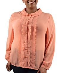 Plus Size Long Sleeve Blouse - id.CC29012