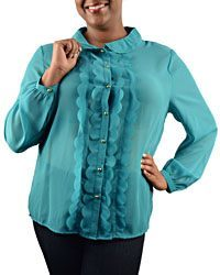 Plus Size Long Sleeve Blouse - id.CC29012a