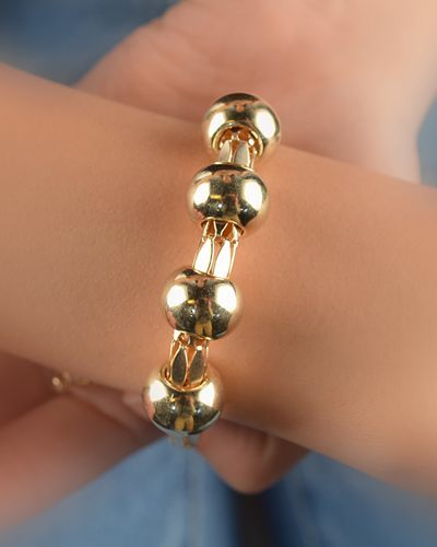 Golden Beaded Adjustable Bracelets-id.CC29334