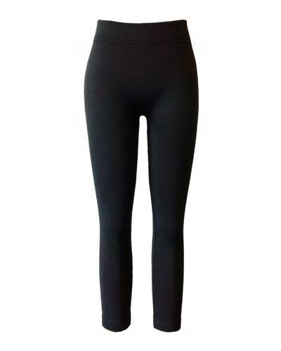 Girls Solid Ribbed Waist Leggings-id.CC30840