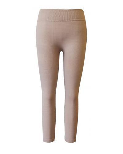 Girls Solid Ribbed Waist Leggings-id.CC30840a
