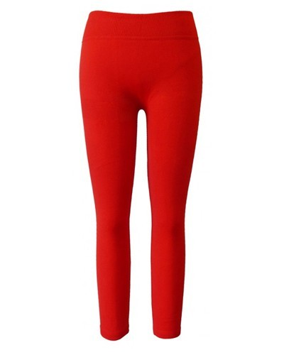 Girls Solid Ribbed Waist Leggings-id.CC30840c