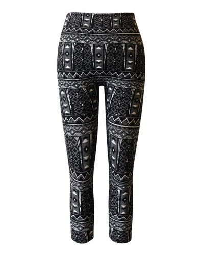Girls Tribal Jacquard Leggings-id.CC30845