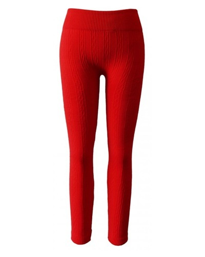 Girls Seamless Cable Fleece Knitted Leggings-id.CC30846a