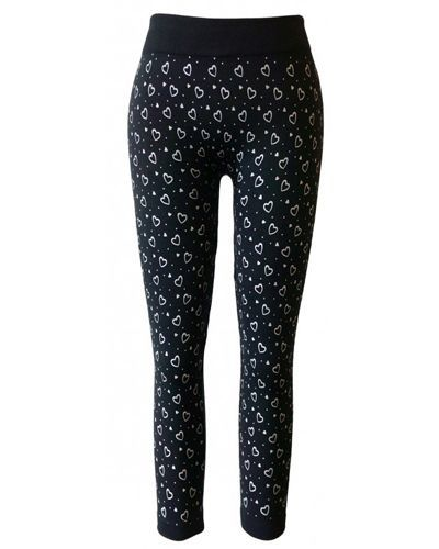 Girls Heart Printed Heat Sealed Seamless Fleece Leggings-id.CC30847a
