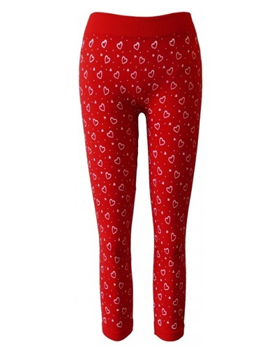 Girls Heart Printed Heat Sealed Seamless Fleece Leggings-id.CC30847b