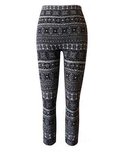 Girls Jacquard Leggings with Seamless Fleece-id.CC30848