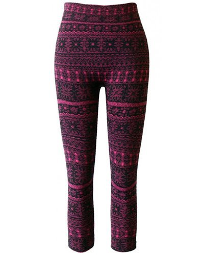 Girls Jacquard Leggings with Seamless Fleece-id.CC30848a