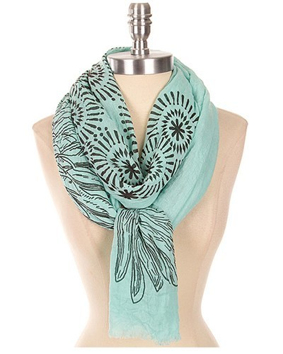Abstract Printed Scarf-id.CC30946