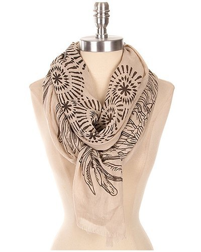 Abstract Printed Scarf-id.CC30946b