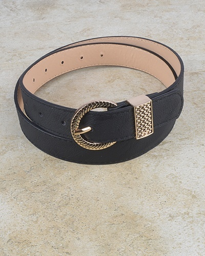 Oval Shaped Stitched Buckle Belt-id.CC30951