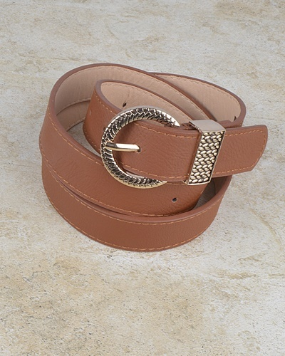 Oval Shaped Stitched Buckle Belt-id.CC30951a