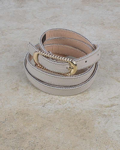 Rounded Rectangle Shaped Buckle Belt with Zip Detailing at the Edges-id.CC30953a