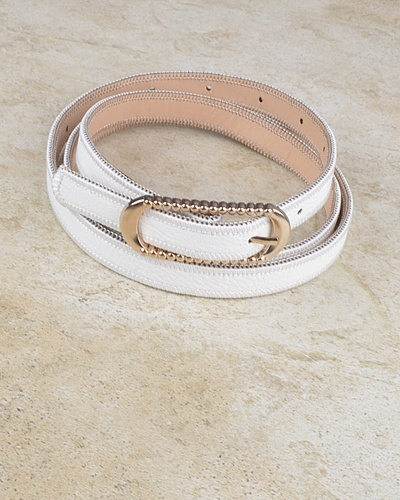Rounded Rectangle Shaped Buckle Belt with Zip Detailing at the Edges-id.CC30953f