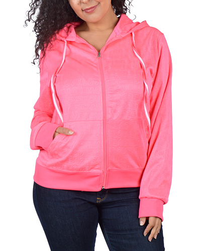Plus Size Full Sleeve Hood Top - id.CC30981b