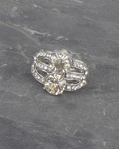Crystal and Stone Studded Multiple Band Ring-id.CC30992