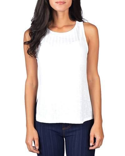 Sleeveless Ribbed Top with Side Slits - id.CC31011b