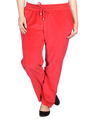 Plus Size Loose Fitted Velvet Pants - id.CC31096a