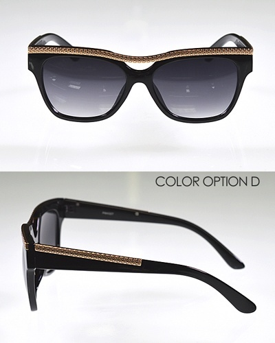 Wayfarer Sunglasses with Metal Embellishments-id.CC31101c