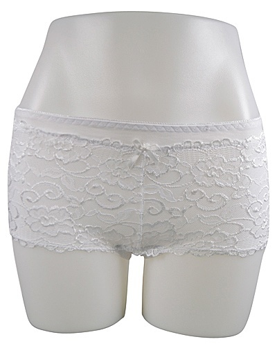 Women's sexy Lace Floral Patterned Boy Shorts Panty -id.CC31120e