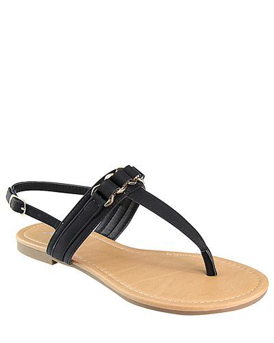 Flat Slip On with T Shape Ankle Strap-id.CC31222b