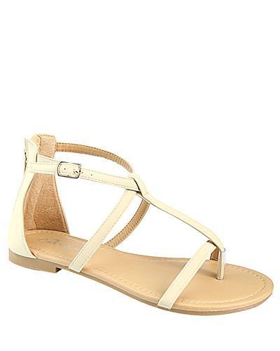 T Strap Flat Sandal with Buckle Closure-id.CC31226