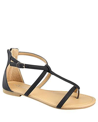 T Strap Flat Sandal with Buckle Closure-id.CC31226a