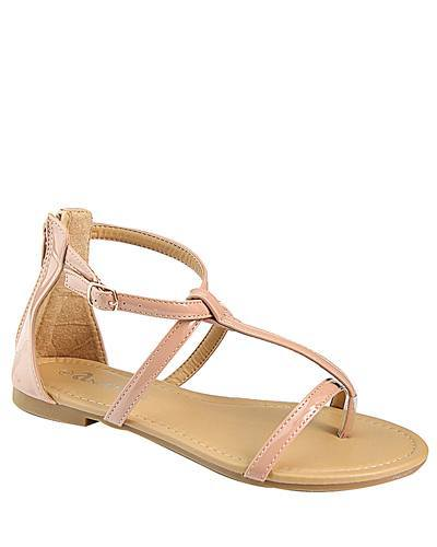 T Strap Flat Sandal with Buckle Closure-id.CC31226b