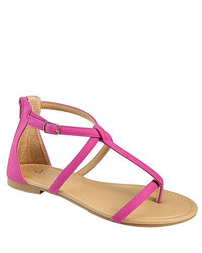 T Strap Flat Sandal with Buckle Closure-id.CC31226c