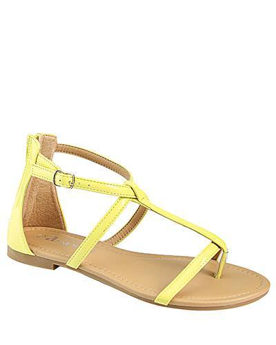 T Strap Flat Sandal with Buckle Closure-id.CC31226d