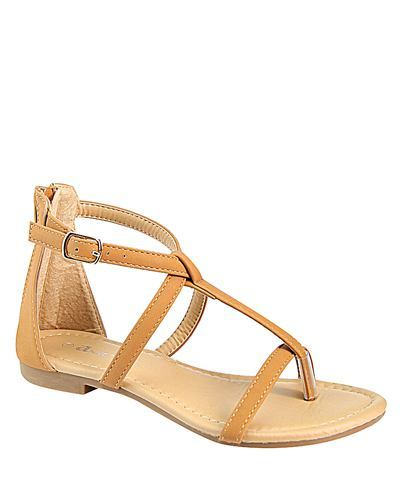 T Strap Flat Sandal with Buckle Closure-id.CC31226e