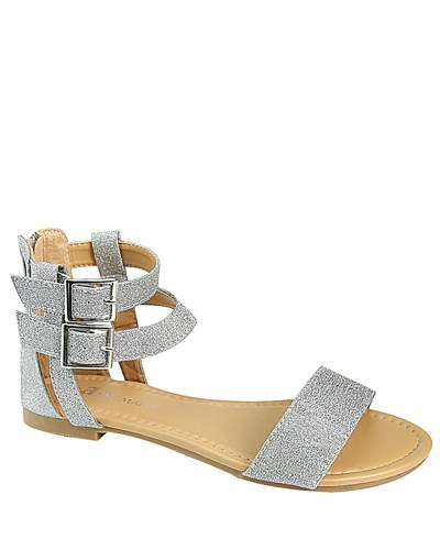 Two Ankle Strap Flat Sandals with Buckle-id.CC31229c