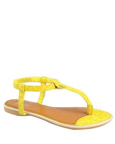 Flat Slip On with Open Toe T Strap-id.CC31230c