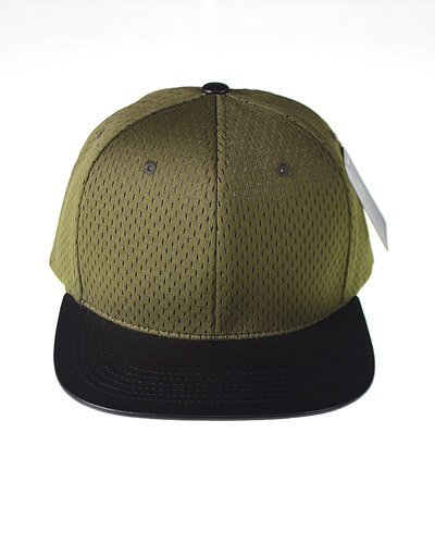 Snapback with Mesh Patterned Crown-id.CC31235