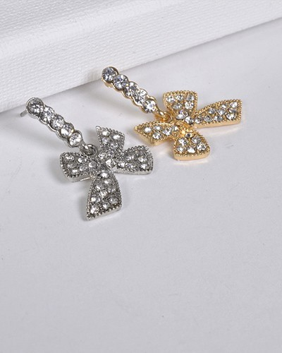 Bow Shaped Drop Earrings-id.CC31287
