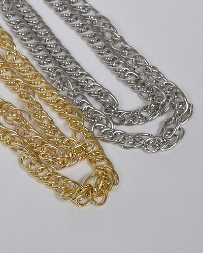 Layered Multiple Link Chain Necklace-id.CC31326