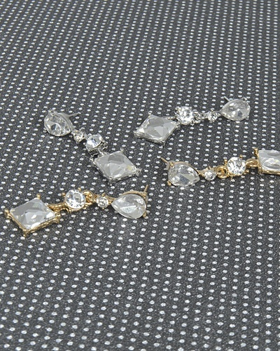 Crystal Studded Drop Earrings with Multiple Pattern-id.CC31350