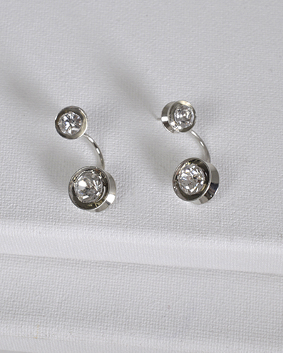 Metallic Crystal Inset Ear Cuffs-id.CC31431