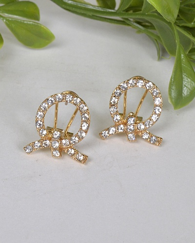 Hollow Circular Stone Studded Earrings-id.31468