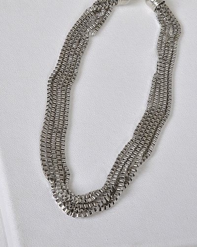 Multi-Stand Box Chain Necklace-id.31476