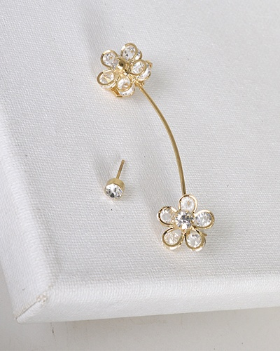 Floral Pattern 3D Ear Cuffs-id.31481