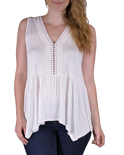 Plus sleeveless top-id.CC33570