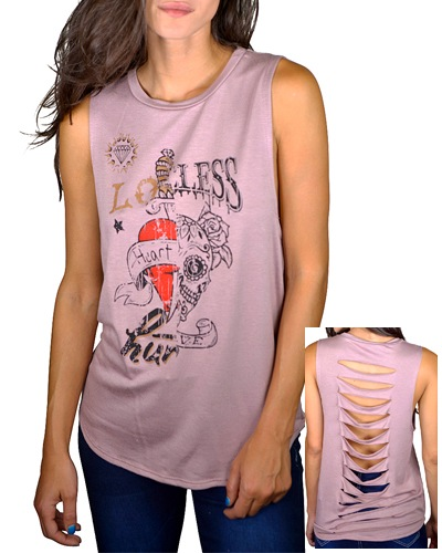 Distressed sleeveles tee-id.CC33631