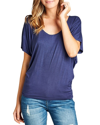 Relaxed fit round neckline top-id.CC33757n