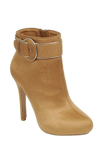 Ladies fashion ankle boot, closed almond toe, stiletto heel, with zipper closure, buckle detail-id.CC34023