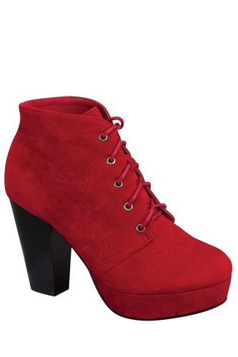 Ladies fashion ankle boot, closed almond toe, block heel, with tie straps-id.CC34026c