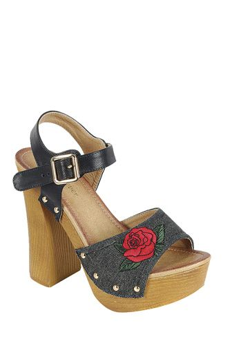 ladies fashion leather upper slingback strap with buckle, with wooden stacked block heel-id.CC34046a