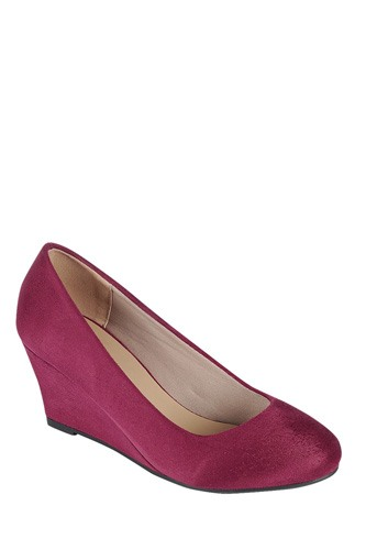 Ladies fashion wedge shoe, closed round toe wedge, slip on closure-id.CC34176